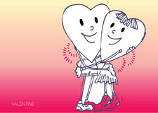 Two hearts hugging Royalty Free Stock Photo
