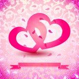 Two Hearts Illustration Stock Photos