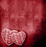 Two Hearts In Red Background Royalty Free Stock Images