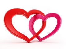 Two hearts intertwined Stock Images