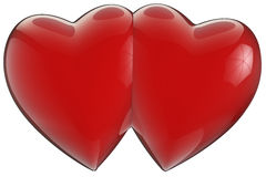 Two hearts joined Royalty Free Stock Image