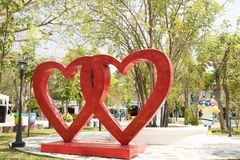 Two hearts. Stock Photo