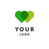 Two hearts logo. Logotype. Vector. Royalty Free Stock Photography
