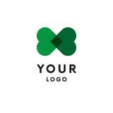 Two hearts logo. Logotype. Vector. Stock Image