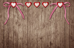 Two hearts with loop and three hearts without loop Royalty Free Stock Images