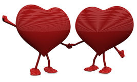 Two Hearts in Love. Royalty Free Stock Images