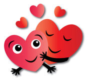 Two hearts love Stock Photo