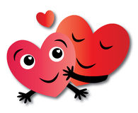 Two hearts love Royalty Free Stock Image