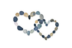 Two hearts made of stone royalty free stock photo