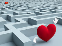 Two Hearts In A Maze Royalty Free Stock Images