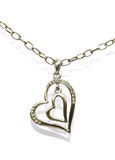 Two hearts necklace Royalty Free Stock Photo