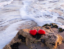 Two hearts by the ocean Stock Image