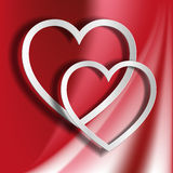Two hearts from paper Royalty Free Stock Photography