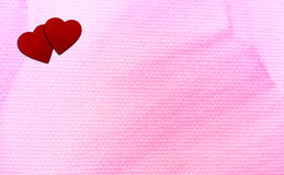 two hearts and pink Stock Photos