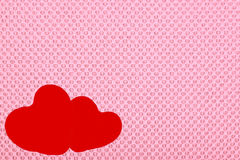Two hearts on a pink background. Royalty Free Stock Photos