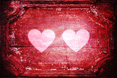 Two hearts red grunge Stock Photo
