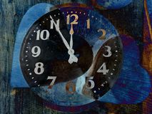 Free Two Hearts Shape And Clock Stock Photo - 103079040