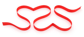 Two hearts shape. Royalty Free Stock Images