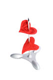 Two hearts on a spike Royalty Free Stock Photography