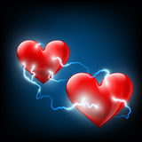 Two hearts. Stock illustration. Stock Images