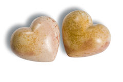 Two  hearts of stone Stock Photography