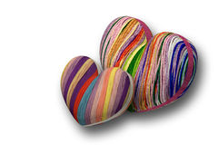 Two hearts from threads. Stock Image