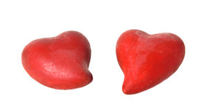 Two hearts together Stock Photos