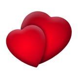 Two Hearts Valentine Stock Photos