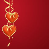 Two hearts Valentine background Royalty Free Stock Photo