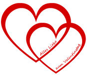 Two hearts valentine`s day Stock Images