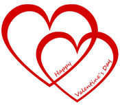 Two hearts valentine`s day Royalty Free Stock Photo