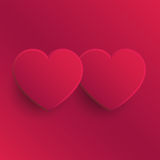 Two Hearts - Valentine's Day Illustration Royalty Free Stock Image