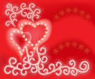 Two Hearts on Valentines  Day Royalty Free Stock Images