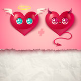 Two hearts for Valentines day Royalty Free Stock Photo