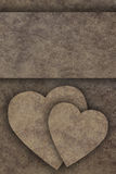 Two hearts on wooden board Royalty Free Stock Image
