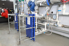 Two heat exchangers Stock Photo