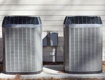 Two Heat Pumps Units royalty free stock photos
