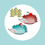 Two hedgehogs. Stock Image