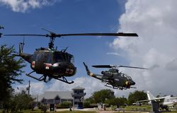 Two Helicopters Stock Image