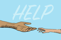 Two helping hands Stock Photo