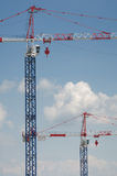Two high cranes Royalty Free Stock Image
