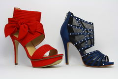Two high-heeled lady's shoes. Royalty Free Stock Image