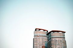 Two high rise buildings Royalty Free Stock Images