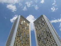 Two high-rise residential buildings. Stock Image