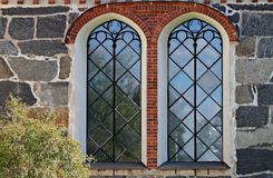 Two high windows on wall royalty free stock photography