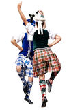 Two Highland Dancers Stock Images