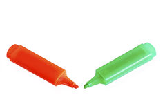 Two highlighters Stock Images