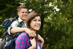 Two hikers Royalty Free Stock Photography