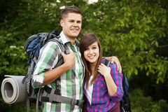Two hikers Stock Photo