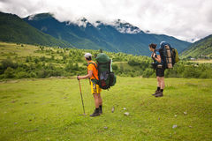 Two hikers. Stock Photos